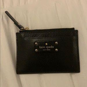 Kate Spade black Card holder NWOT